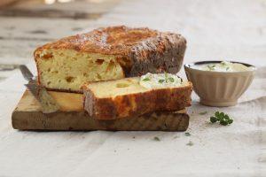 Budín de queso apto para celíacos
