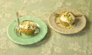Tortitas de pistacho y yogur