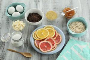 Torta de naranjas y ricota