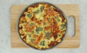 Frittata de brócoli y queso de cabra