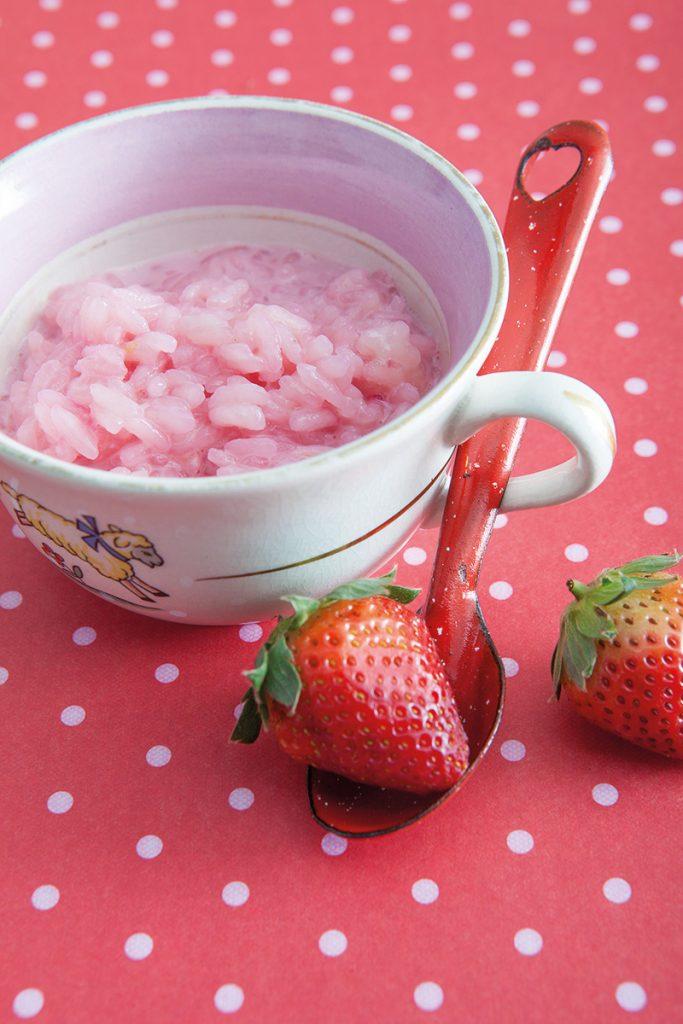 Arroz con leche rosa