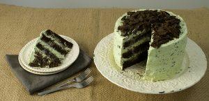 Torta de chocolate y menta