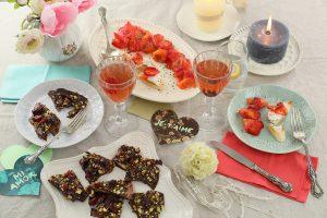 Gravlax de salmón y lajas de chocolate