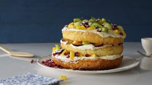 Torta frutal Sin Gluten