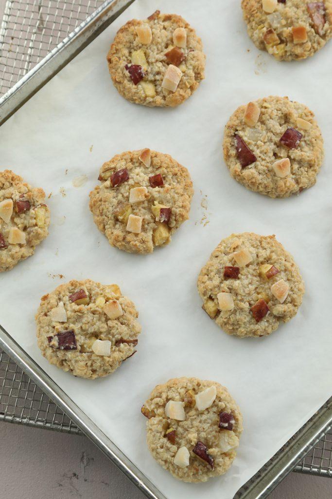 Cookies de avena, manzana y coco