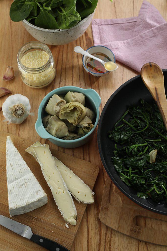 Crêpes de espinaca y brie