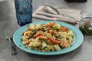 Ensalada de quinoa y langostinos