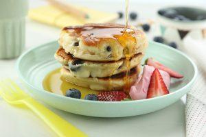 Pancakes con arándanos