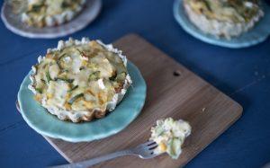 Tarta de zucchini y queso