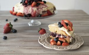 Torta de ricota y frutos rojos