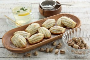 Madeleines de pistacho