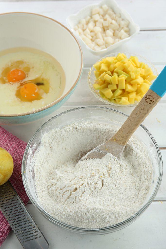 Muffins de mango y coco