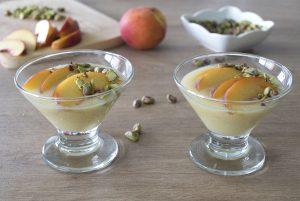 Ambrosía con damascos y pistachos