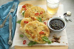 Coliflor crujiente con salsa asiática