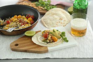 Tacos con quinoa
