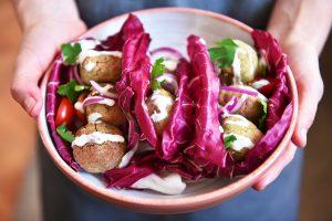 Falafel de pistacho y hierbas