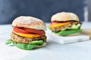 Súper hamburguesa vegetariana