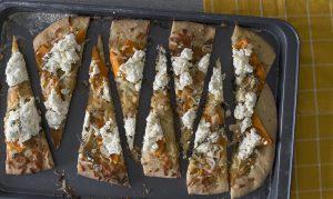 Pizza de calabaza y ricota