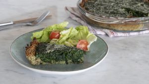 Tarta con base de quinoa