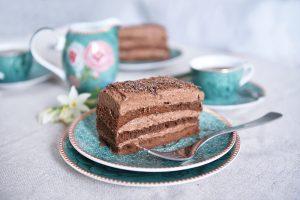 Torta de chocolate y café sin harina