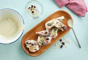 Barras de yogur helado