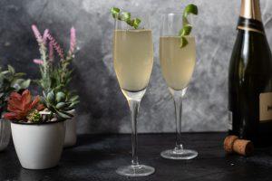 Champagne con Almibar de Limas y Jengibre