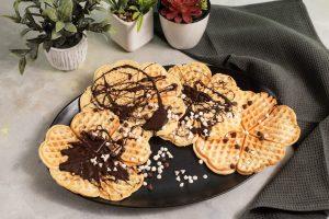 Waffles Bañados en Chocolate