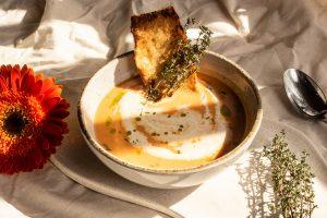 Sopa crema de Zanahoria y Lentejas