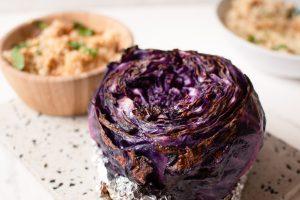 Repollo Braseado con Ensalada de Quinoa