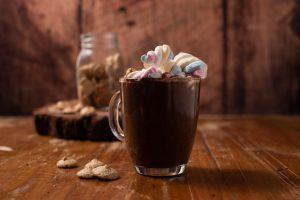 Chocolate caliente especial con Amarettis
