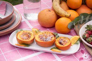 Crème Brûlée dentro de frutas